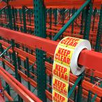 flue space labels-installed