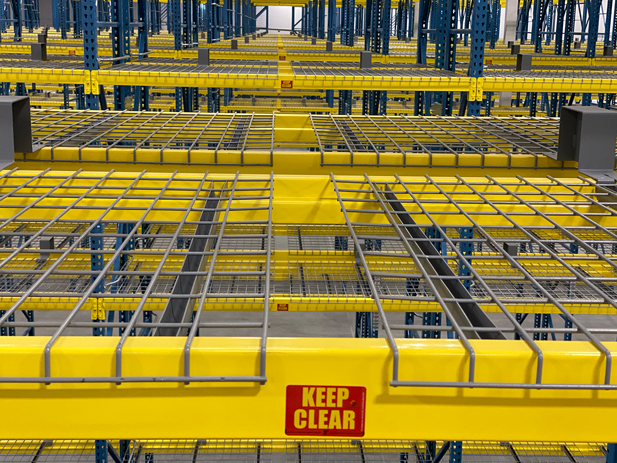 Flue Space Labels - Yellow Rack with Red Labels